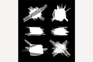 Grunge Tire Banners set