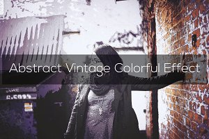 Abstract Vintage Colorful Effect