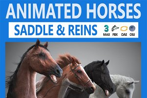 Animated Horses 3DS Max