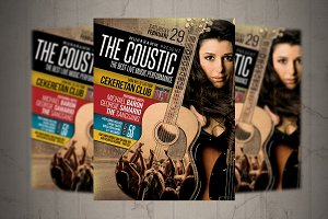 Acoustic Even Flyer / Poster