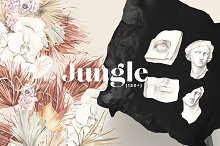 JUNGLE floral modern art collection by  in Illustrations