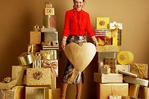 smiling stylish fashion-monger showi