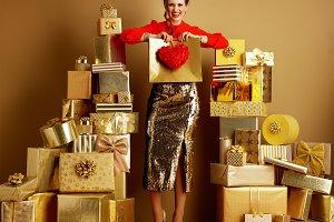 happy stylish fashion-monger showing