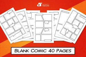 Blank Comic Panels Templates