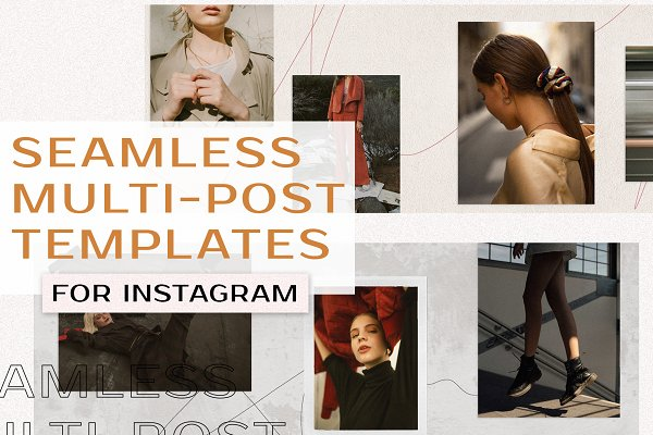 Social Media Templates: Karissa Felice - Seamless Mood Board Insta Templates