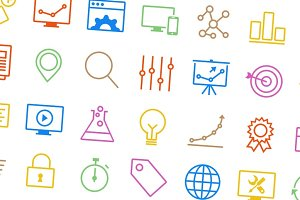 SEO Icons - Vector Outlined
