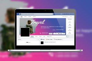 Travel Brush Facebook Timeline Cover