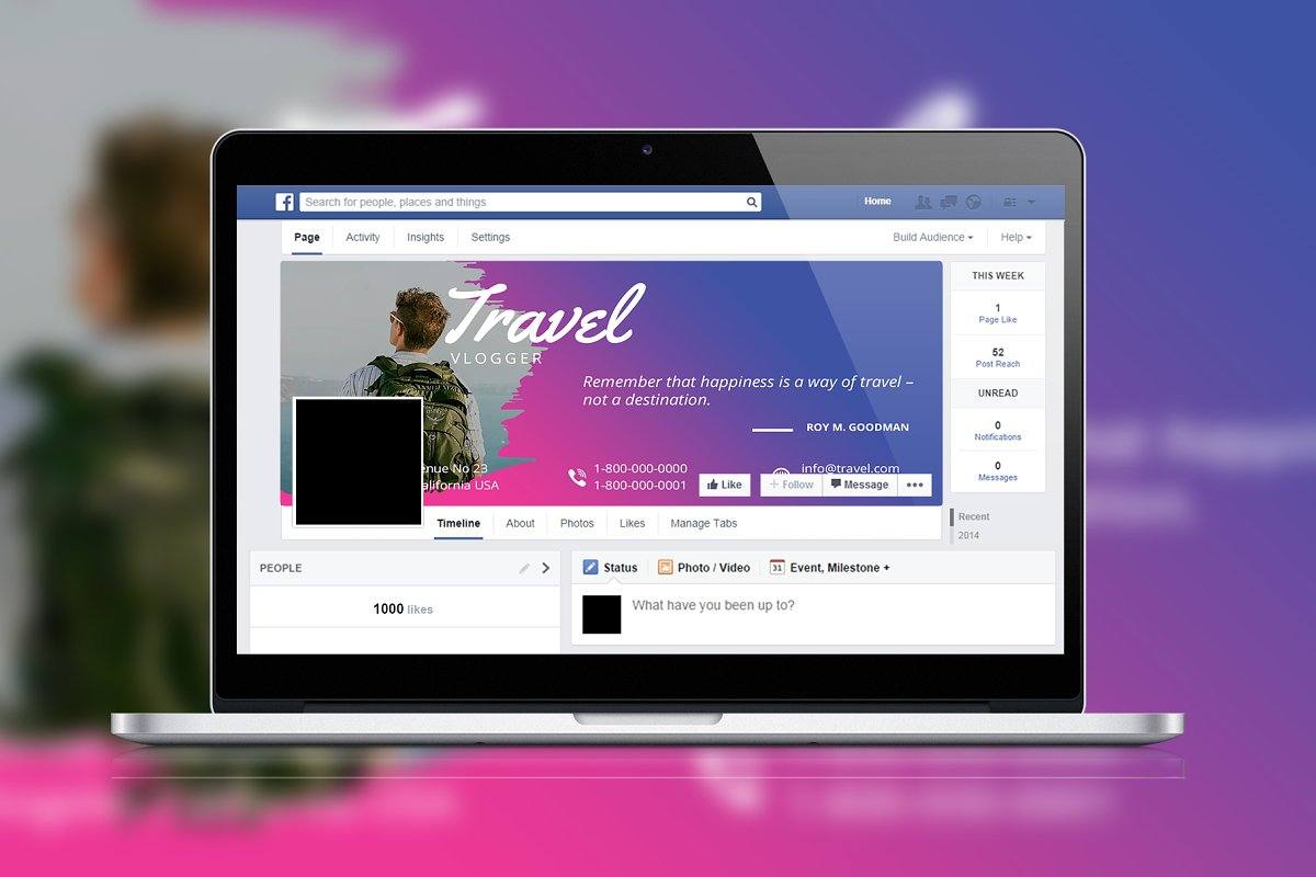 Travel Brush Facebook Timeline Cover