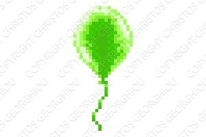 Pixel Art Balloon 8 Bit Arcade Video
