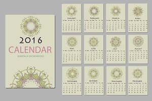 75% off 2016 calendar with mandala