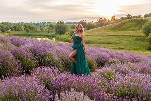 Girl on a lavender field