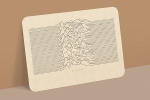 Mockup Old Paper Sketch Postcard