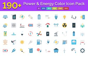 190+ Power & Energy Color Icons