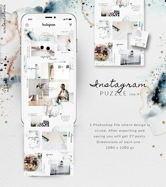 81% OFF  BUNDLE v.2-Instagram Puzzle in Instagram Templates - product preview 1