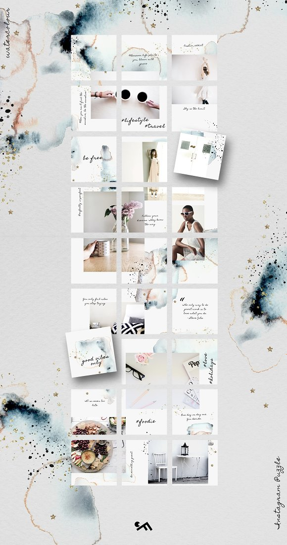 81% OFF  BUNDLE v.2-Instagram Puzzle in Instagram Templates - product preview 2