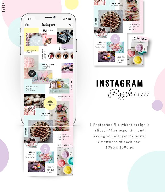 81% OFF  BUNDLE v.2-Instagram Puzzle in Instagram Templates - product preview 5