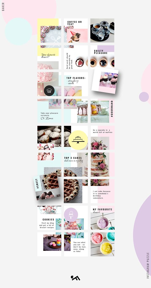 81% OFF  BUNDLE v.2-Instagram Puzzle in Instagram Templates - product preview 6