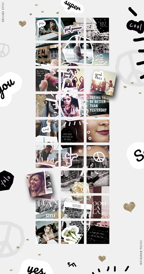 81% OFF  BUNDLE v.2-Instagram Puzzle in Instagram Templates - product preview 8