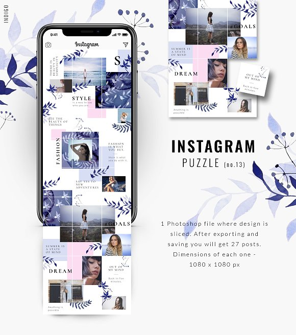 81% OFF  BUNDLE v.2-Instagram Puzzle in Instagram Templates - product preview 9