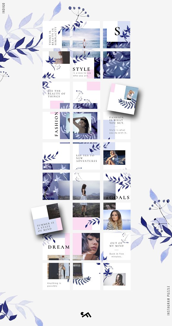 81% OFF  BUNDLE v.2-Instagram Puzzle in Instagram Templates - product preview 10