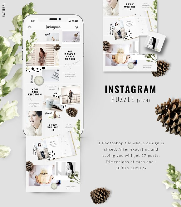 81% OFF  BUNDLE v.2-Instagram Puzzle in Instagram Templates - product preview 11