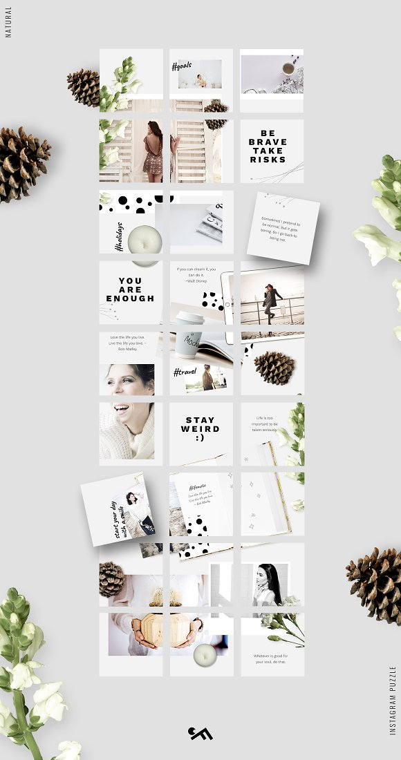 81% OFF  BUNDLE v.2-Instagram Puzzle in Instagram Templates - product preview 12