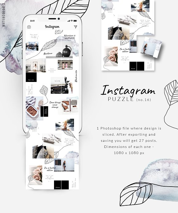 81% OFF  BUNDLE v.2-Instagram Puzzle in Instagram Templates - product preview 15