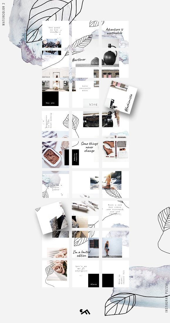 81% OFF  BUNDLE v.2-Instagram Puzzle in Instagram Templates - product preview 16