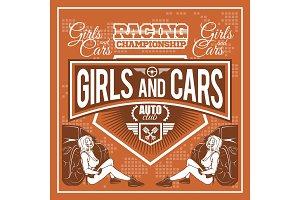 Racer woman design - Street Racing