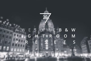 20 Awesome B&W Lightroom Presets
