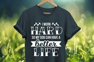 I work hard, dog SVG cut file