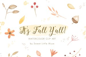 Watercolor Clip Art - Autumn/Fall