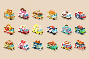 Van Food in Isometric style