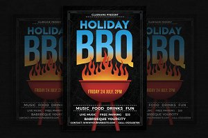 Holiday/Weekend BBQ Party Flyer