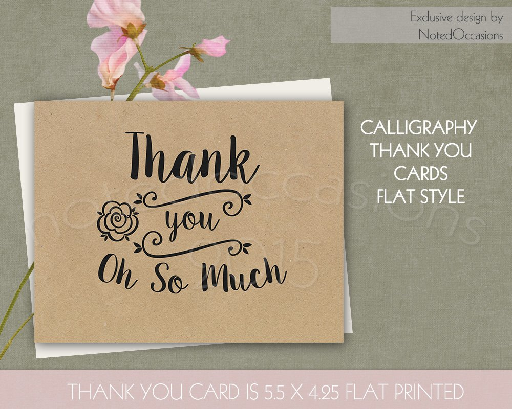 Kraft paper thank you cards card templates creative market reheart Choice Image