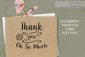 Kraft Paper Thank You Cards