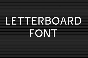 Letter board Font and Background