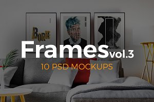 Frames Vol.3. 10 PSD mockups.