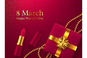 Happy Womens Day vector illustration