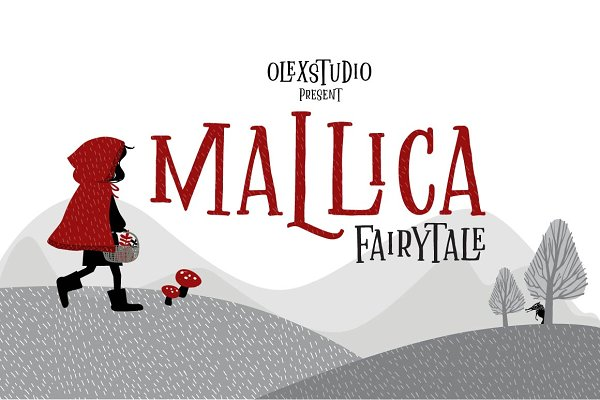 Display Fonts: Olexstudio - MALLICA Fairytale