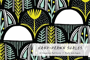 Hand Drawn Scale | Seamless Patterns
