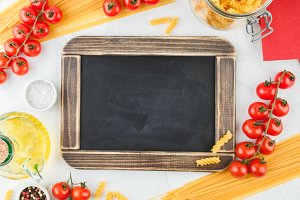 Chalk board with copy space with