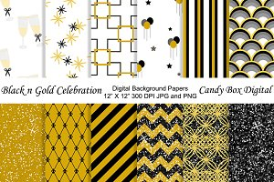 Black n Gold Background Papers