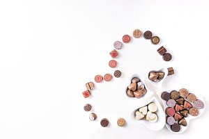 Chocolate valentines candies