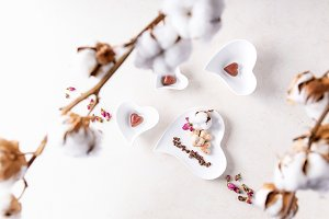 Heart shaped valentines candies