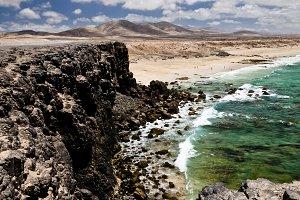 Coast in Canari island