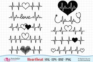 Heartbeat Valentine's Day SVG