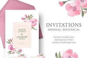 Wedding romantic invitation