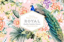 Royal, Seamless Patterns and Motifs. by  in Patterns