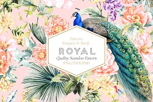 Royal, Seamless Patterns and Motifs.